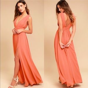 Lulu's Heavenly Hues Maxi Dress in Rusty Rose L